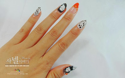 EASY Halloween nail art