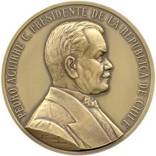 Moneda de Dibujo de Pedro Aguirre Cerda