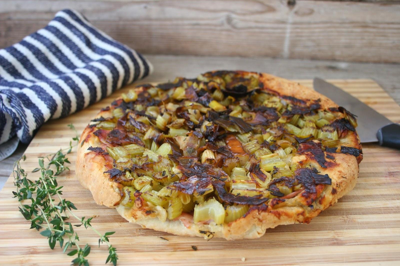 Abra Berens' Celery Ham Tart aka Pissaladiere