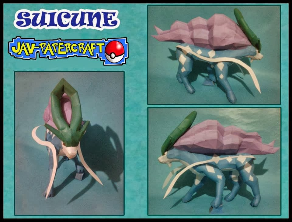 Pokemon Suicune Paper Model