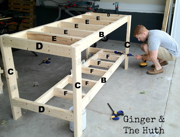 DIY Garage Workbench Plans 2X4