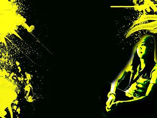 nicole narcato in yellow background