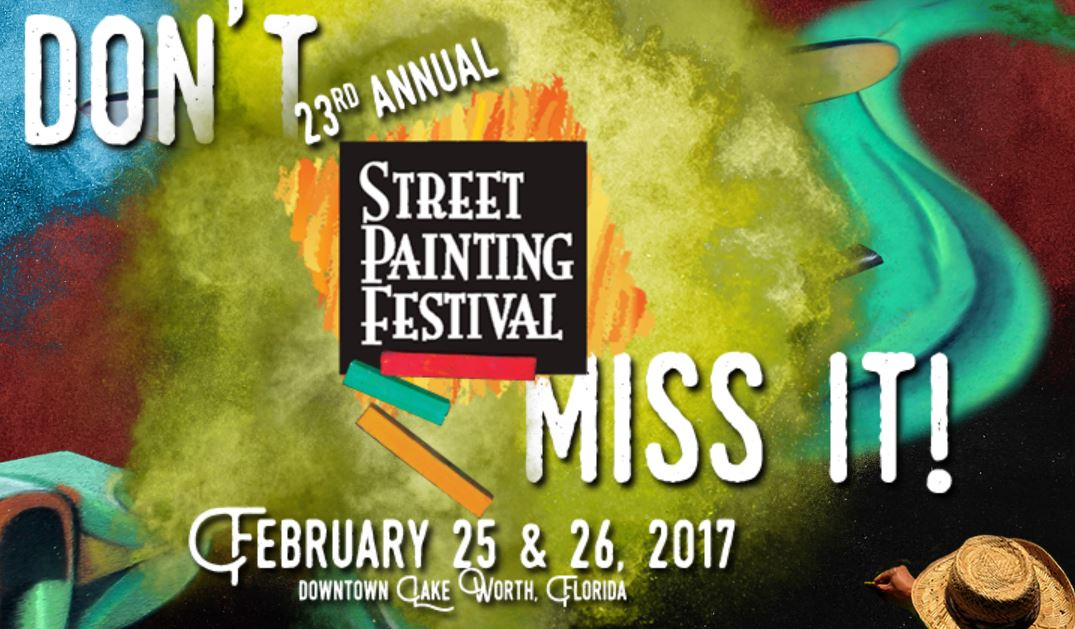 Too early to sponsor Lake Worth's 2017 23rd Annual Street Painting Festival? No Way!