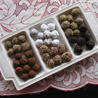 Roasted Almond Chocolate Truffles