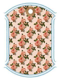gift tag stock image roses