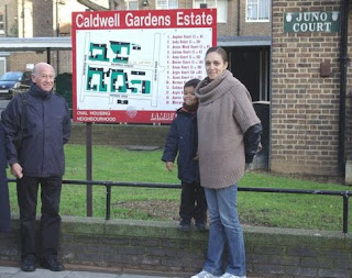 Councillor Adrian Garden at the Caldwell Gardens Estate on vassallview.com