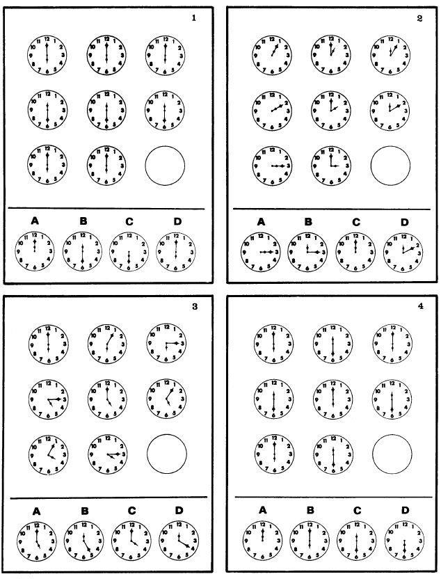 Iq test. Δοκιμασίες ευφυΐας 1 εως 4.