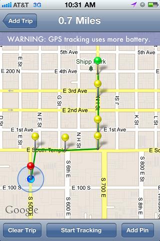google miles tracker