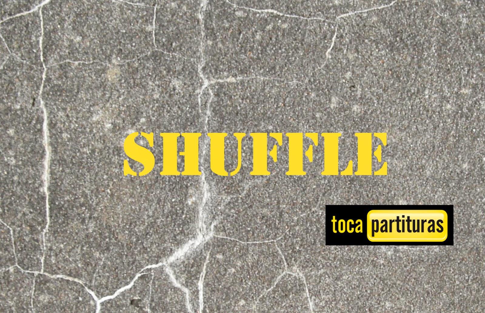 www.tocapartituras.comShuffle Partitura de Batería fácil para principiantes Shuffle Sheet Music for Battery and Drums