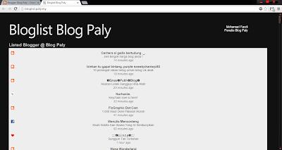 Blog Paly ajak masuk bloglist