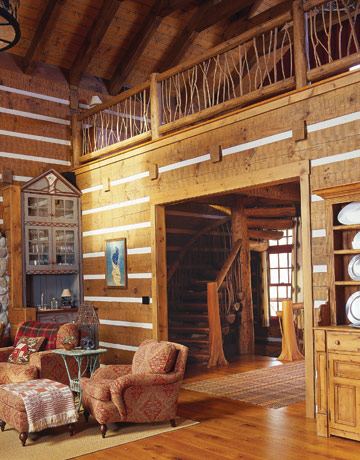 Log home interior design ideas and log home interiors house interior decoration - Log cabin interior design ideas ...