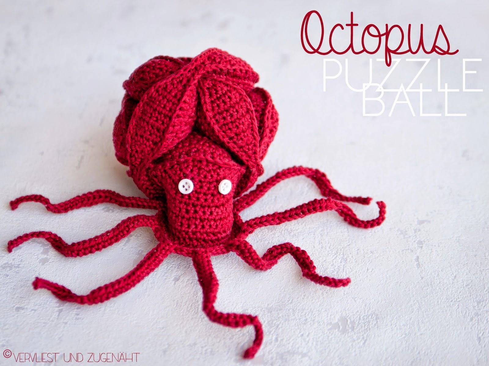 Vervliest und zugenäht: Amish Octopus Puzzle Ball