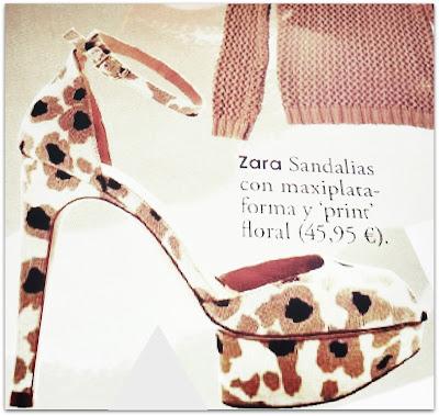 Sandalias print floral Zara