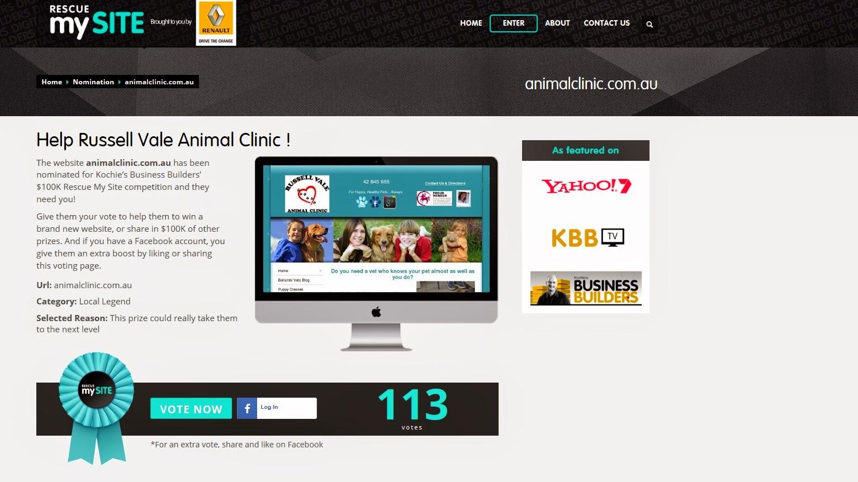 http://www.rescuemysite.com.au/nomination/animalclinic-com-au/