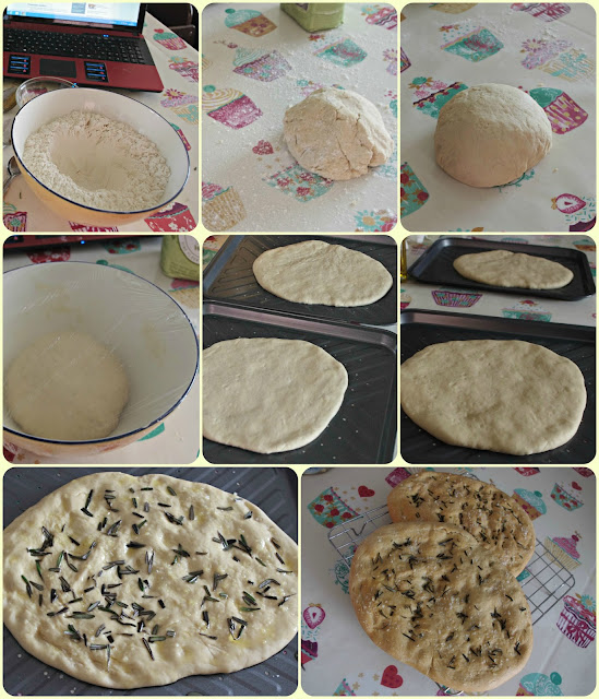 Foccacia motivated by the Great British Bake Off