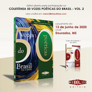 EDITAL N° 001/2020 – COLETÂNEA 50 VOZES POÉTICAS DO BRASIL VOL. 2