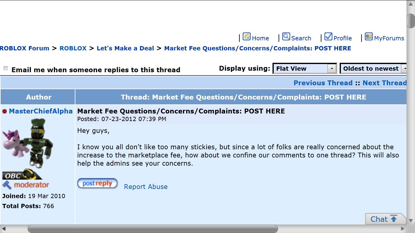 roblox complaints