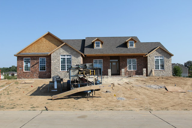 Our New Home The Exterior Brick Stone And Siding