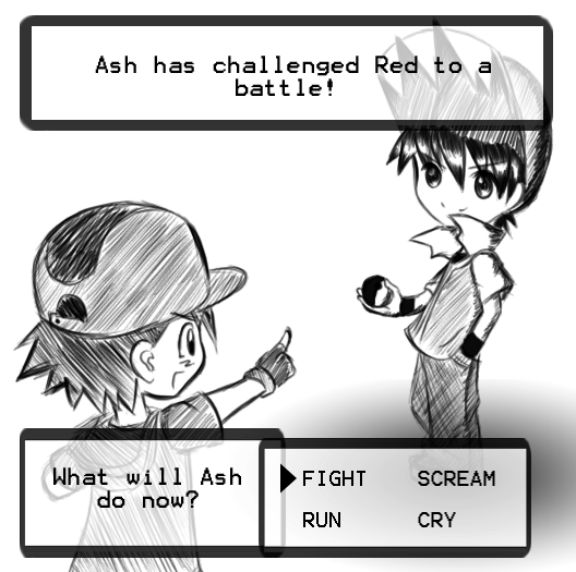 Pokemon are Red and Ash Ketchum same person?