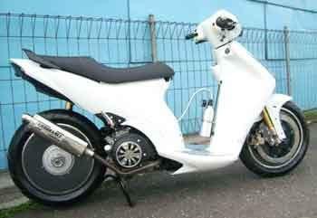 modifikasi motor spin putih