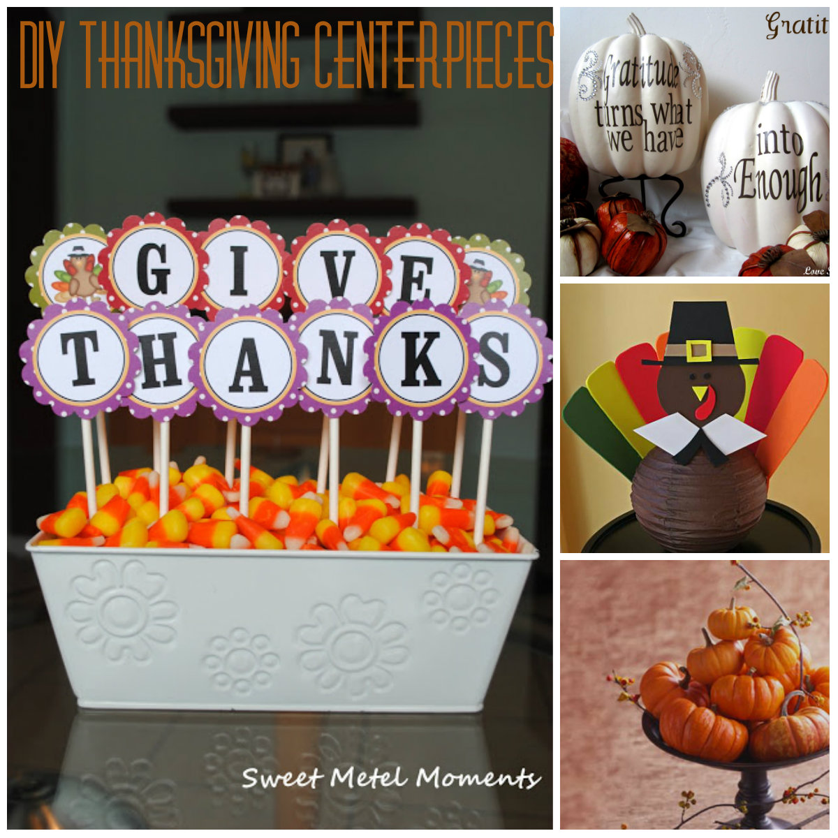 Pinterest thanksgiving centerpieces just b cause Thanksgiving table decorations homemade