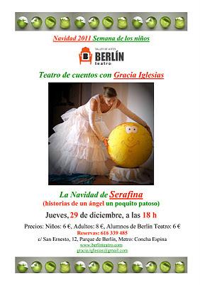 Gracia Iglesias, Cuentacuentos, cuentos de navidad, Teatro Berlín
