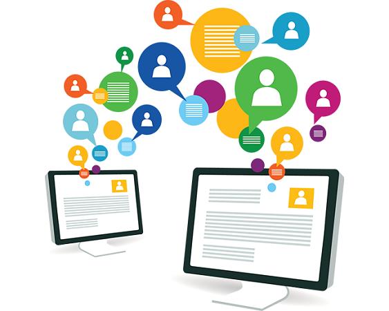 SEM e como anunciar na internet - ícones sociais
