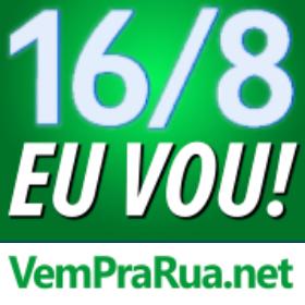 foto azul para protestar contra Dilma em manifestação 16-8