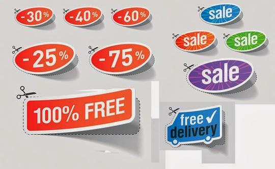 Nice Discount Sales Sticker Vector