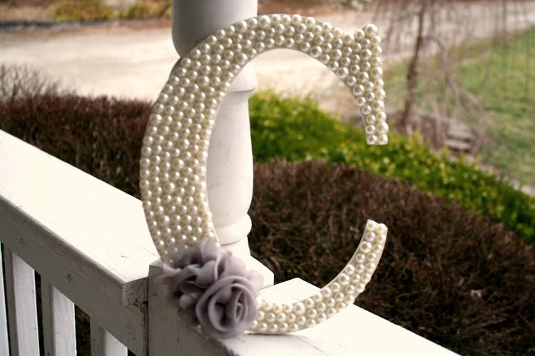 aprils treat pearl embellished wooden home decor letter - Letter Decor