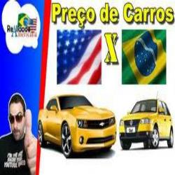 Comparação de preços de carros vendidos no  brasil é estados unidos