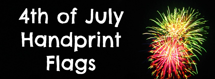 Miss Yellow Shoes: 4th of July Hand-print Flags