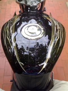 detailing motorbike