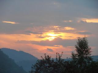 Zachód słońca nad Pieninami