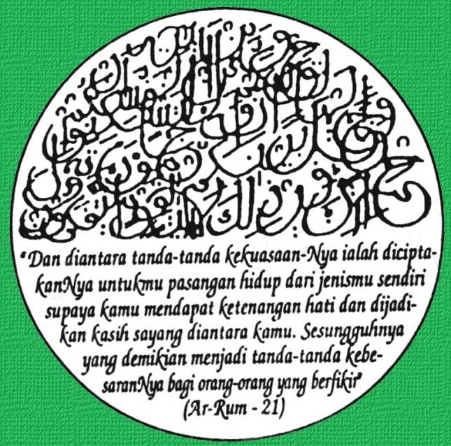 Ayat Al Qur'an yang biasa disertakan dalam undangan pernikahan
