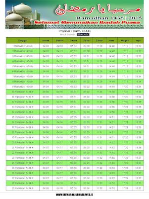 Jadwal Imsakiyah Situbondo Ramadhan 1436 H