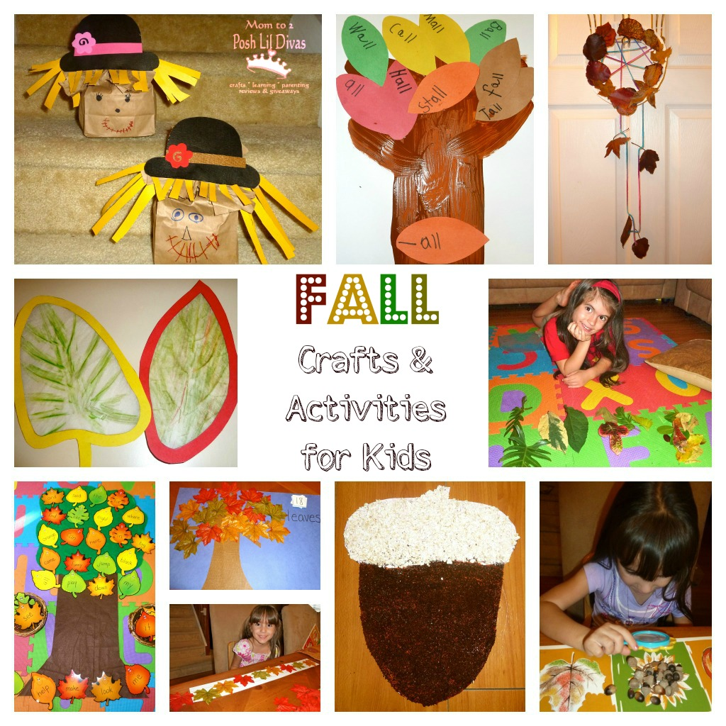 mom to 2 posh lil divas fun fall crafts and learning activities for