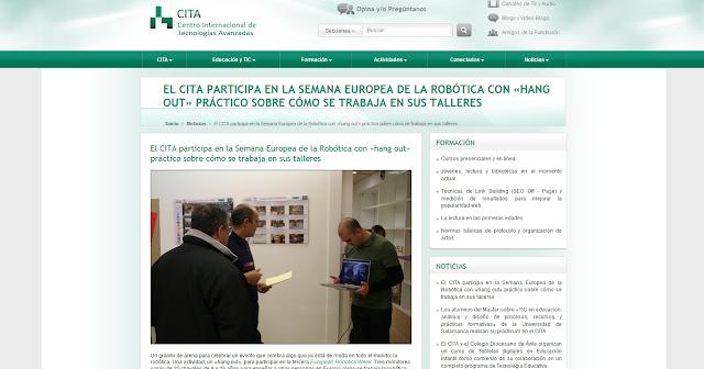 https://cita.fundaciongsr.com/1073/El-CITA-participa-en-la-Semana-Europea-de-la-Robotica-con-hang-out-practico-sobre-como-se-trabaja-en-sus-talleres