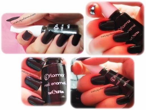 flormar siyah oje