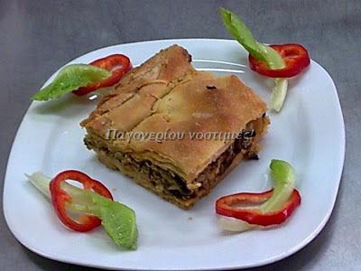 Κρεατόπιτα με λάχανο-Παγονέρι παραδοσιακές συνταγές