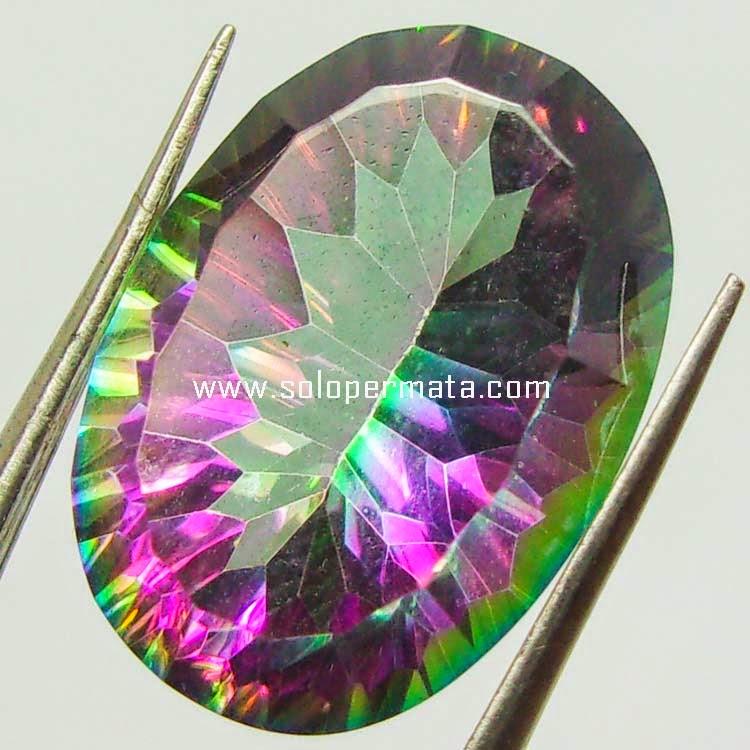 Batu Permata Rainbow Mystic Quartz - Sp068