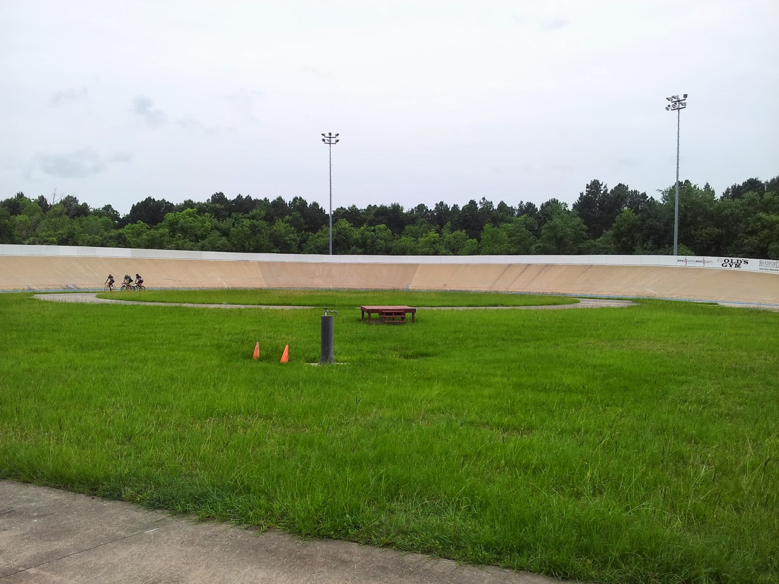 Picture of one bank of velodrome