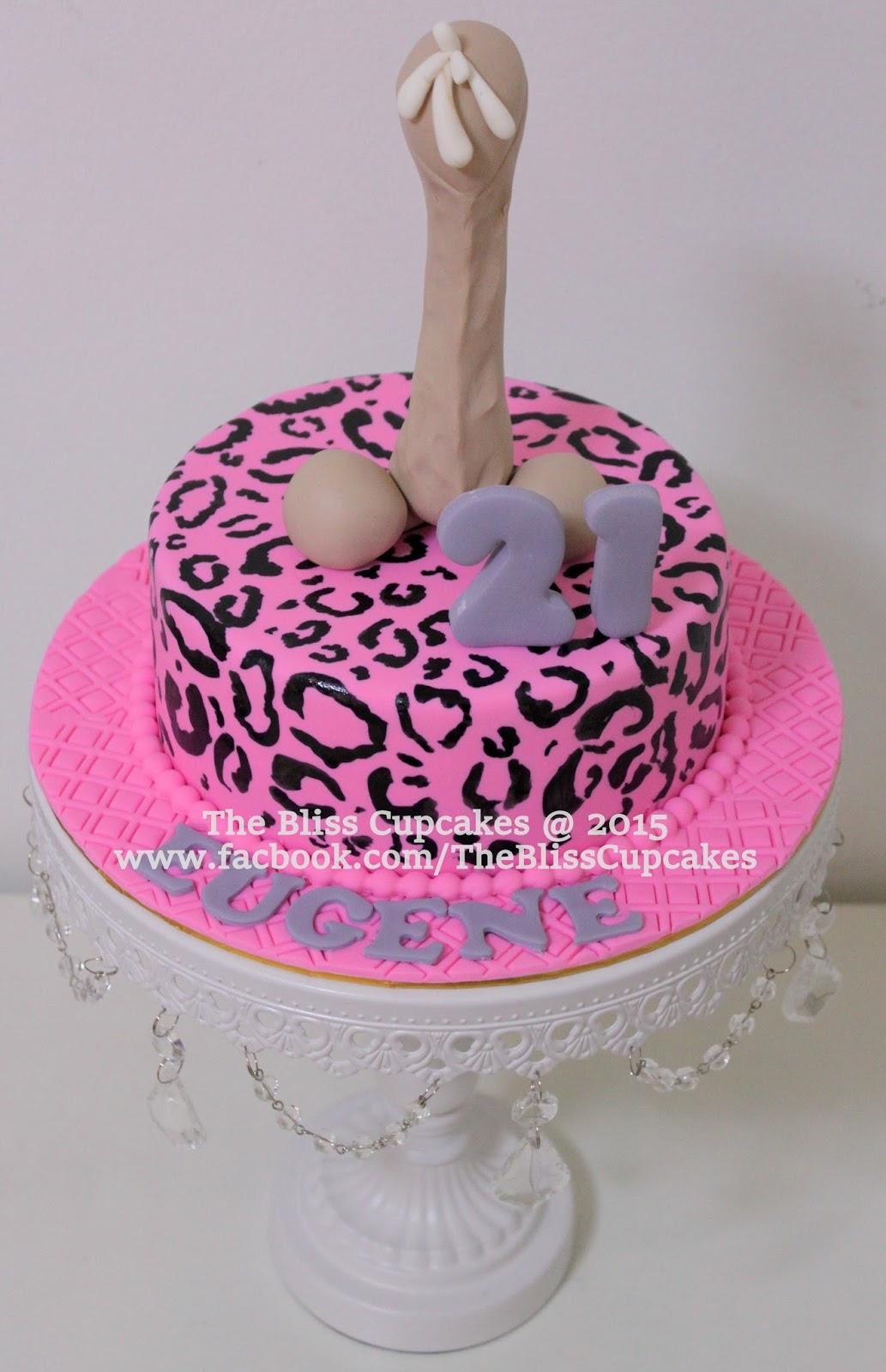 The Bliss Cupcakes Extra Naughty Penis Birthday Cakearcadia