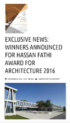 International Jury Member - Seminar Speaker, Hassan Fathi Award for Architecture 2016