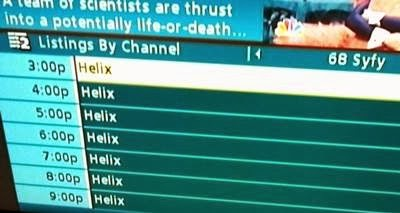 Syfy's HELIX TV ratings, a marathon of the premiere
