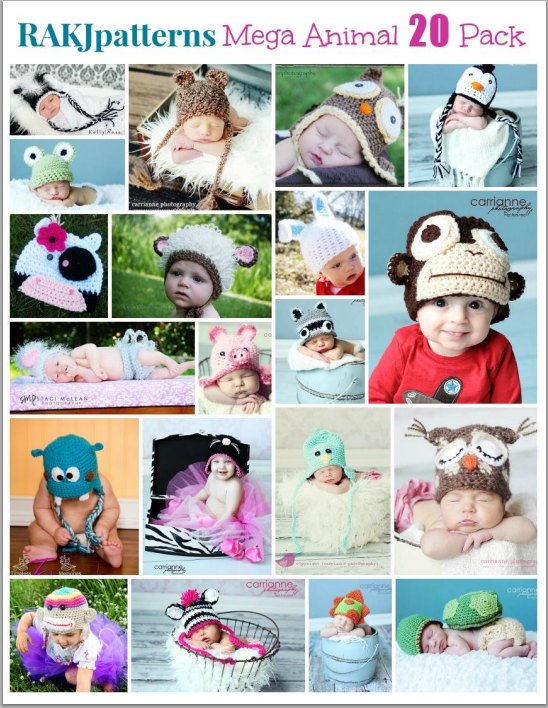 20 Cute Animal Crochet Patterns for the price of one!