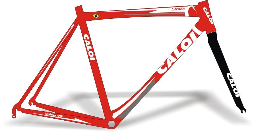 Adesivo De Parede Feminino ~ Stickers Design Adesivo Bike Caloi Strada