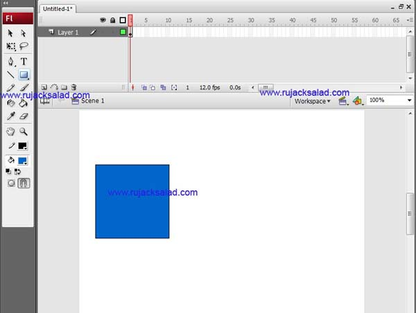 Rectangle Tool On Adobe Flash