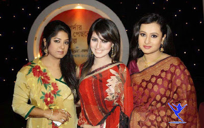 Bangladeshi Actress Purnima with Actress Moushumi and Actress Anika Kabir Shokh.