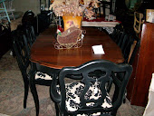 french garden treasure black damask dining set